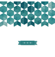 abstract background banner of hexagon vector image