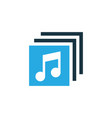 albums colorful icon symbol premium quality vector image