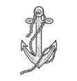 anchor with chain sketch vector image