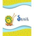 Animal alphabet letter S and snai vector image