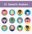 avatars circle vector image