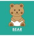 bear cute vector image vector image