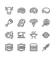 beef related icon set vector image