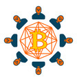 bitcoin pool extraction of cryptocurrency mining vector image