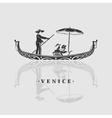 Boat Venice vector image vector image