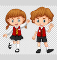 boy and girl with switzerland flag on shirts vector image vector image