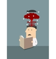 Businessman with brain explosion in head vector image