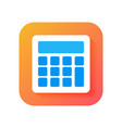 calculator icon modern icon in flat style on vector image vector image