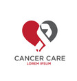 cancer care logo designs vector image