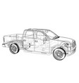 car silhouettes rendering 3d vector image