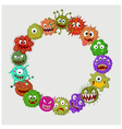 Cartoon germ colony vector image vector image