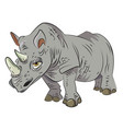 cartoon image of rhino vector image