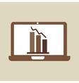 cartoon laptop statistic information design vector image vector image
