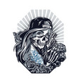 chicano tattoo style vintage concept vector image vector image