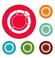 circle chart icons circle set vector image vector image