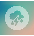 Cloud Rain Lightning transparent icon Weather vector image vector image