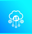 cloud storage data transfer icon vector image vector image