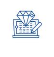 code development line icon concept code vector image vector image