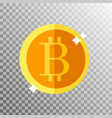 coin bitcoin on a transparent background vector image vector image