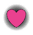 comic heart isolated icon vector image
