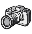 Compact digital camera vector image