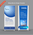 corporate blue rollup banner vector image vector image