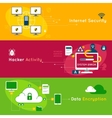 Data Protection Flat Banner Set vector image vector image