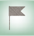 flag sign brown flax icon on vector image vector image