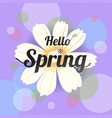 floral spring with white flower vector image vector image