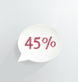Forty Five Percent Discount vector image vector image