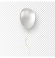 glossy realistic white balloon vector image