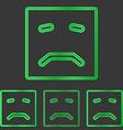 Green metal sadness logo design set vector image vector image