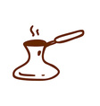 Hand Drawn Turkish Coffee Pot vector image vector image