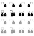 human sociability set black and grey color vector image vector image