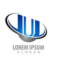 initial letter uu swoosh concept design symbol vector image vector image