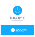 interface on power ui user blue solid logo with vector image vector image