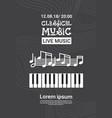 jazz festival live music concert poster vector image