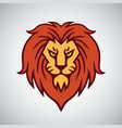 lion head logo mascot design template icon vector image vector image