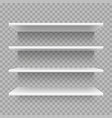 modern empty 3d bookshelf retail shop shelf on vector image