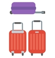 Modern large suitcases on wheels vector image vector image