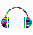 musical earphones from small colored triangles vector image