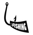 new fishing hook logo simple style vector image