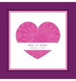 pink abstract flowers texture heart symbol frame vector image vector image