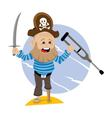 pirate sea robber vector image