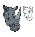 rhino or rhinoceros african animal mascot vector image