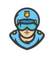 road policeman cartoon vector image