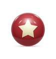 Rubber Ball with Star isoalted vector image vector image