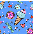 seamless pattern childish fun trendy sweets heart vector image vector image