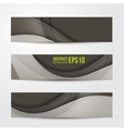 set of abstract banners gray three background vector image vector image