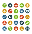 Set of flat design cute baby icons vector image vector image